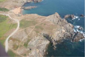 Vue aérienne de la pointe de Ker Daniaud (2014 - cliché D.R.)