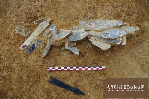 Cache de lames du Paléolithique supérieur
