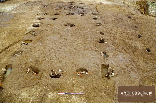 Bâtiment sur poteaux gallo-romain