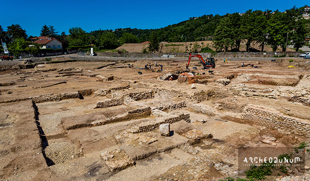 Un site archéologique exceptionnel à Sainte-Colombe, le Bourg (Rhône)    Archeodunum