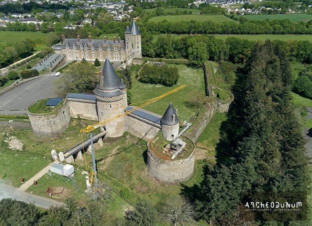 Vue d'ensemble du Château de la Groulais à Blain (Loire-Atlantique)