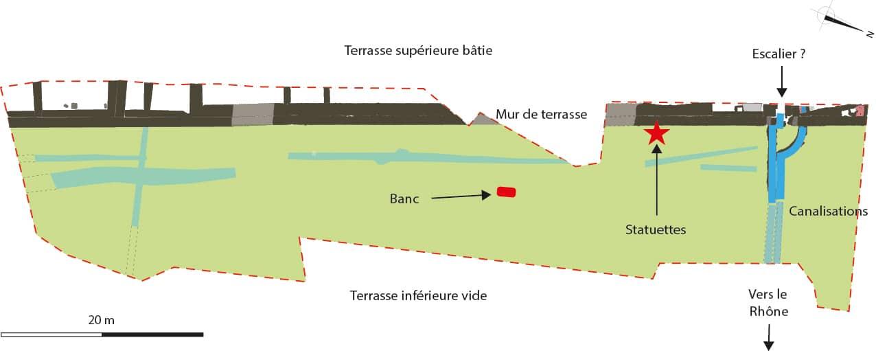 Fig. 2 : Plan des principaux vestiges.