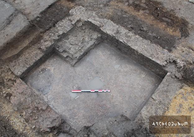 Fig. 6 : Vue d'une cave maçonnée gallo-romaine.