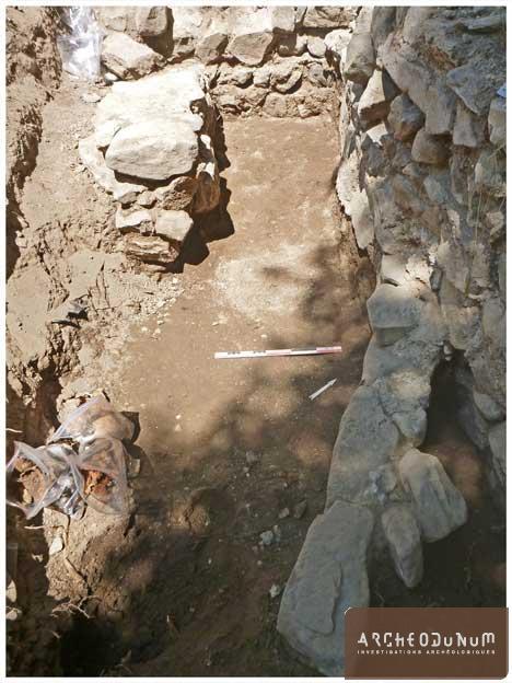 Figure 4 : maçonneries antérieures au chevet du XIIe siècle