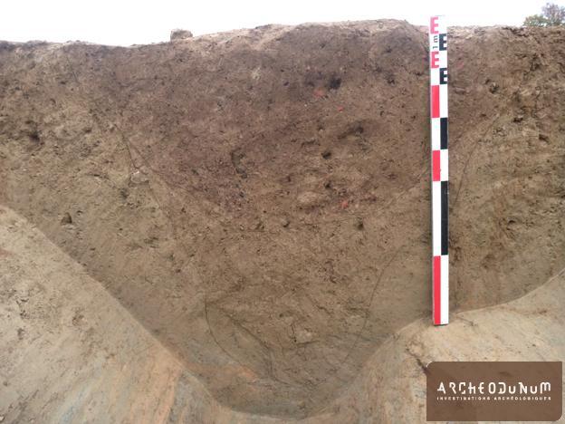 Pontivy - Vue du fossé palissadé