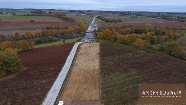 Pontivy - Vue générale du chantier au sein du contournement routier