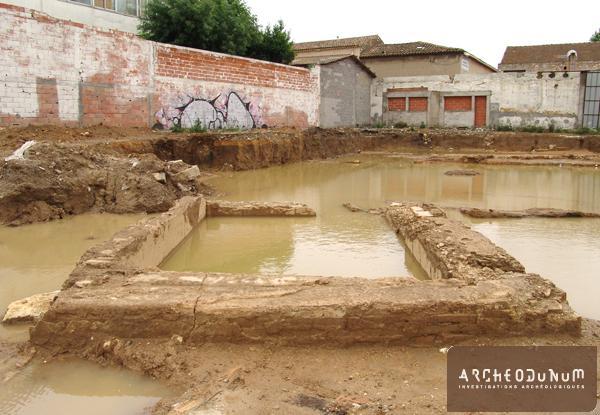 Narbonne - Un bassin après intempéries