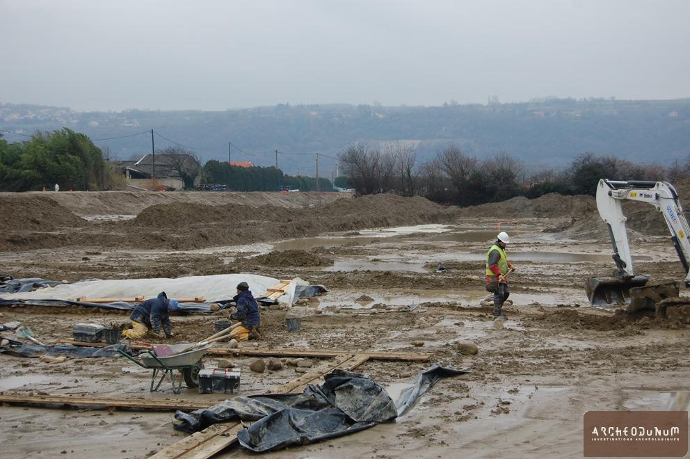 Valence - Conditions de fouille au mois de décembre...