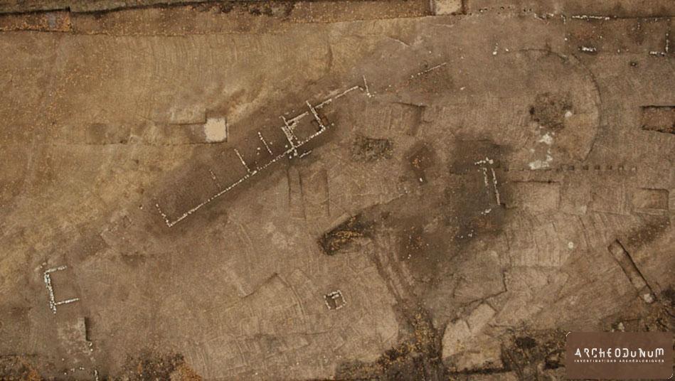 Vue aérienne du secteur sud du site (Cliché Kaparcheo)