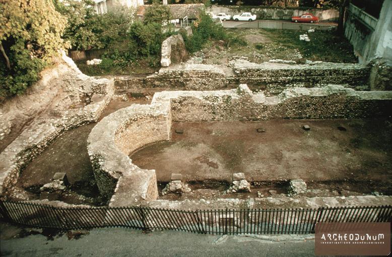 La basilique après son dégagement en 1974 (Photo Archéologie cantonale vaudoise)