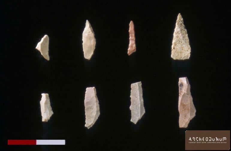 Choix de microlithes du Mésolithique moyen