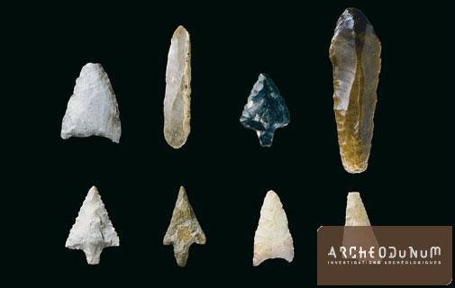 Onnens - Exemple de mobilier lithique issu de l'horizon Néolithique final / Bronze ancien