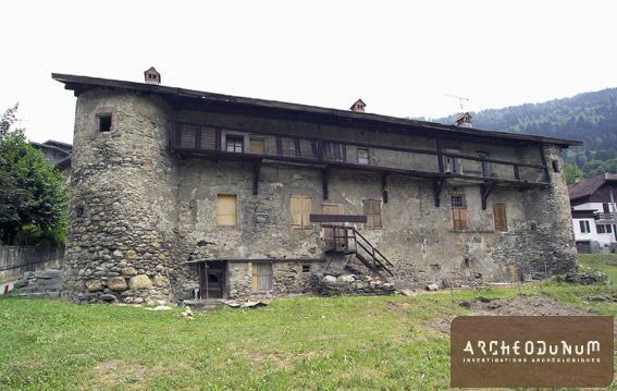 Vue de la façade ouest du château