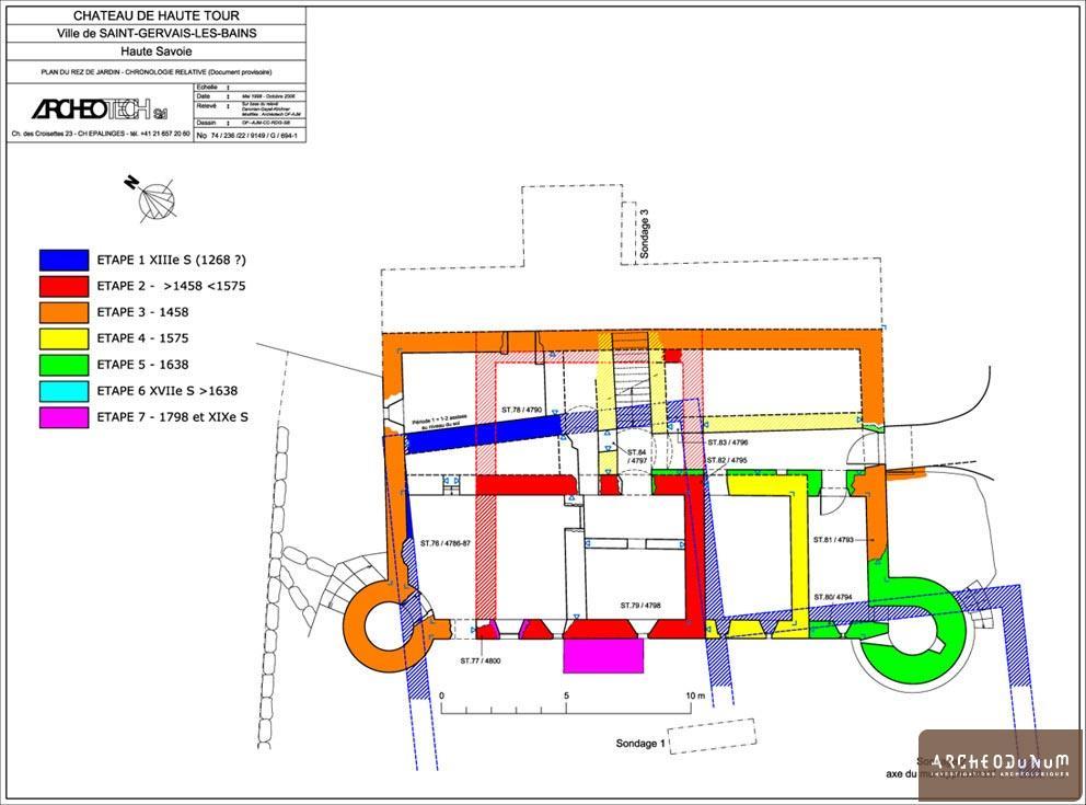 Plan au niveau du rez-de-jardin.