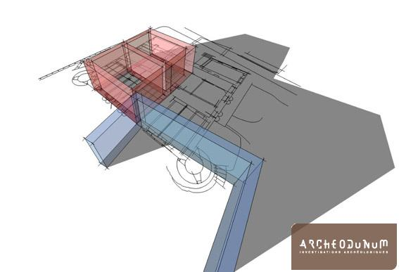 Modélisation en 3D de l'étape 2.