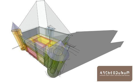 Modélisation en 3D de l'étape 7.