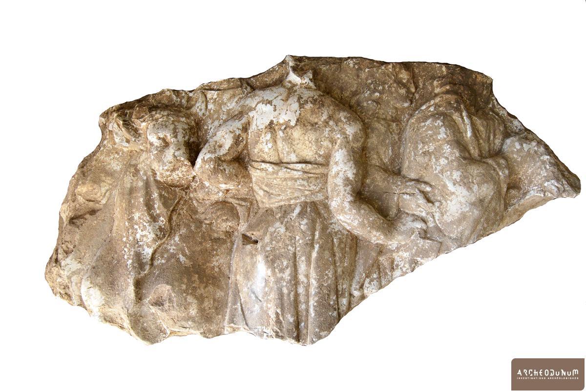 Bas-relief antique (sacrifice de taureau)