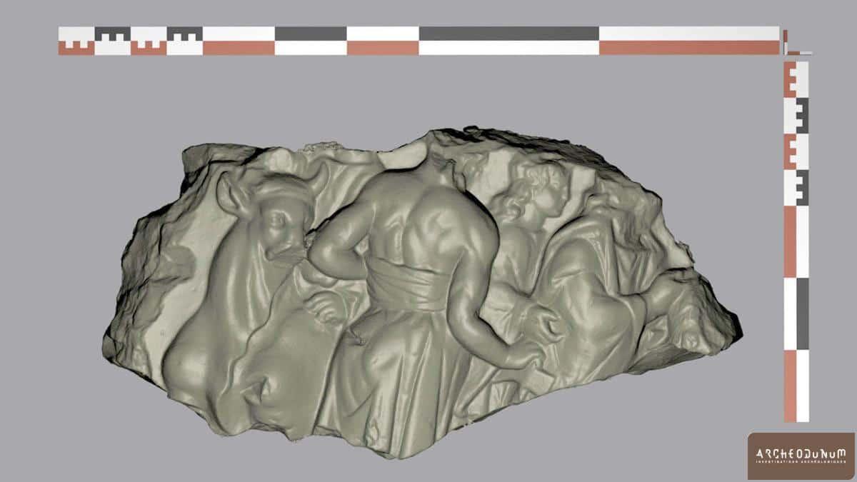 Relevé 3D du bas-relief