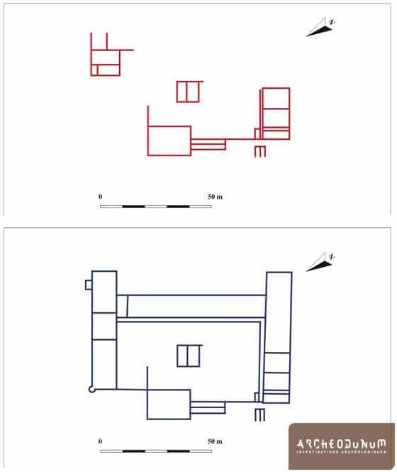 Restitution du plan de la villa au Ier et au IIe siècle