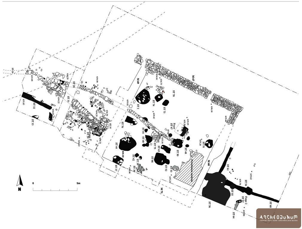 Plan de l'atelier et des structures