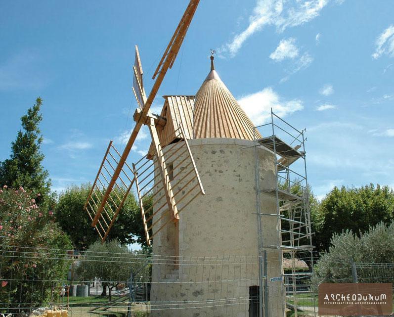 Le moulin en cours de restauration