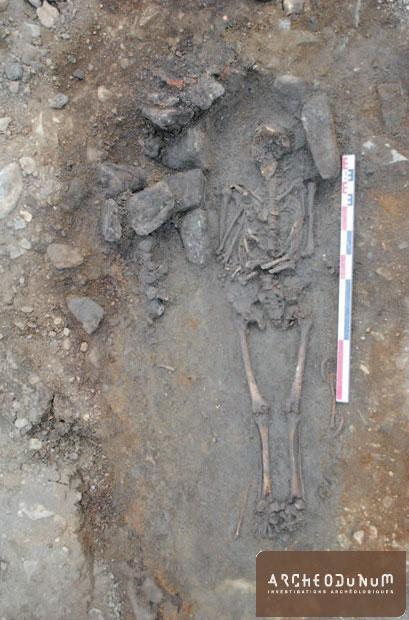 Cliché de la tombe T261.