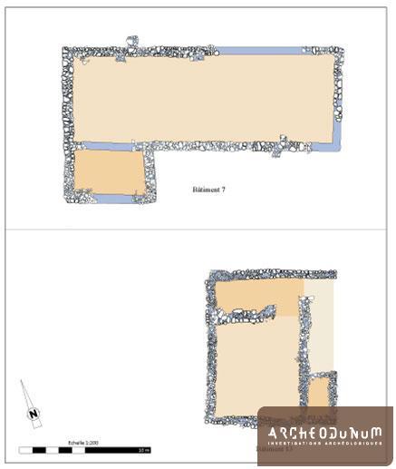 Plan des bâtiments agricoles antiques