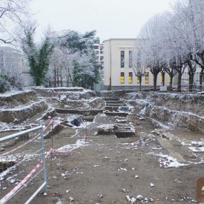 Le chantier a démarré en hiver