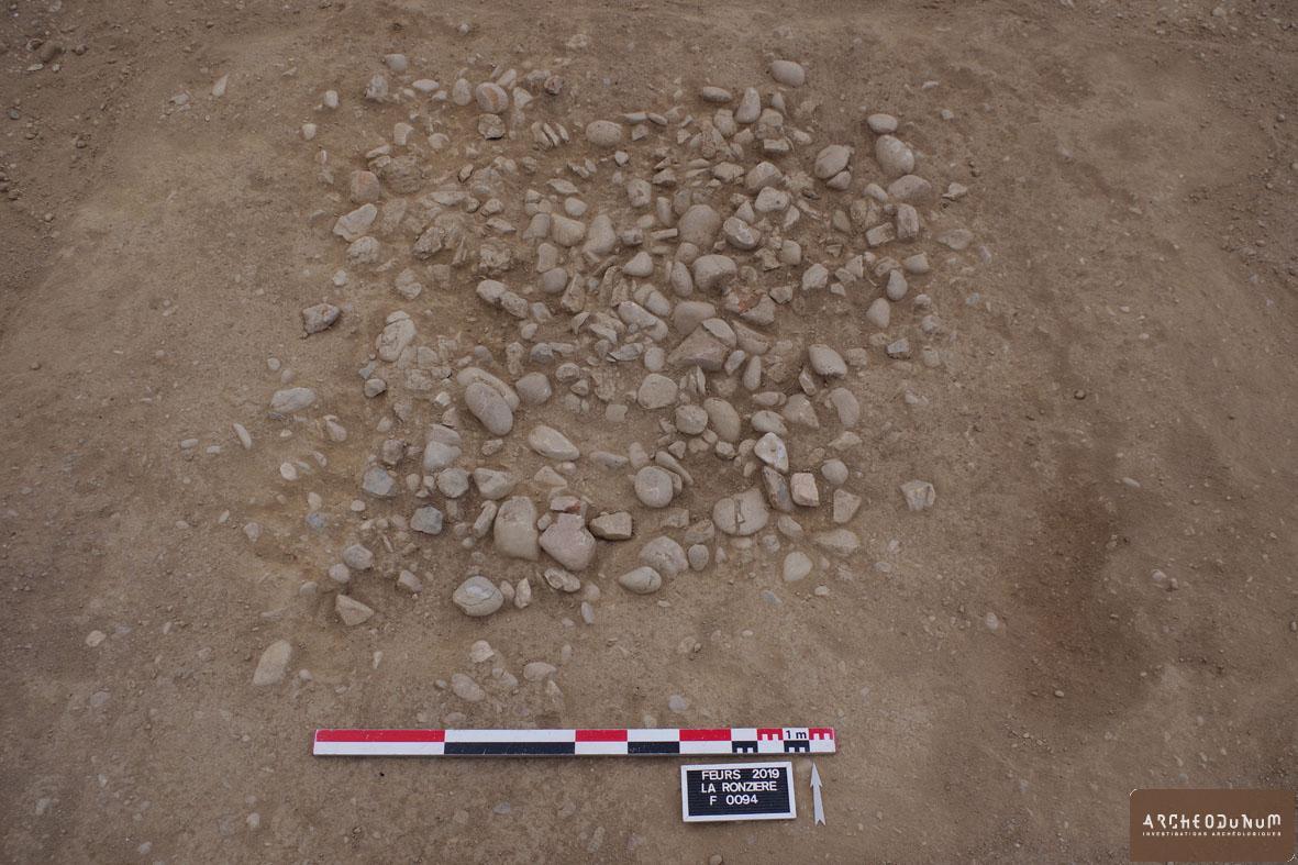 Exemple de structure à pierres chauffées