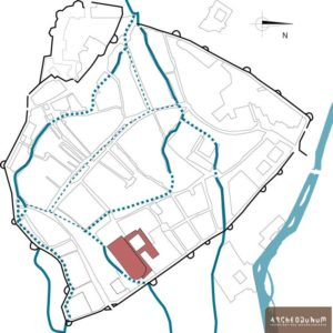 Localisation du couvent dans le parcellaire d'ancien régime (intra muros)