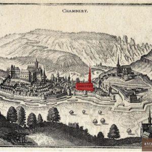 Le couvent sur une gravure de Chambéry au XVIIe siècle