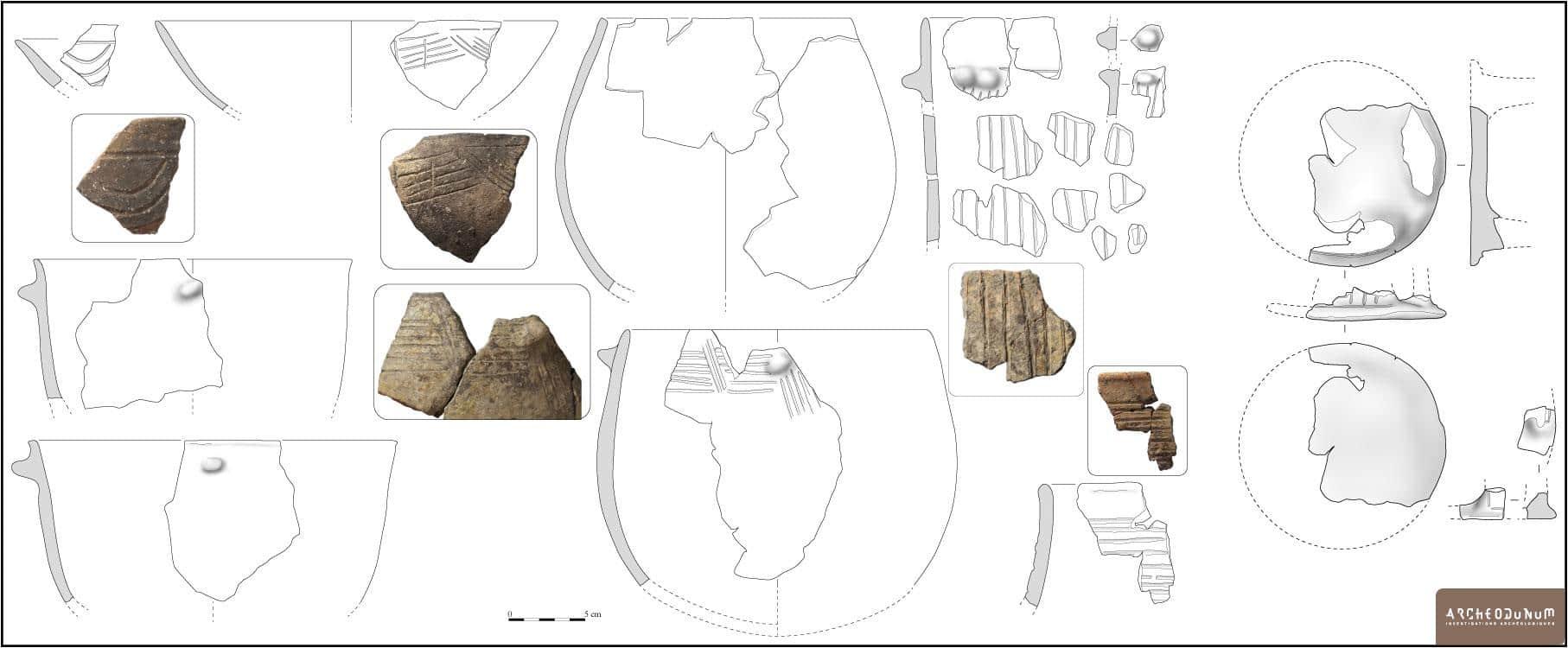 Échantillon de mobilier céramique du Néolithique final