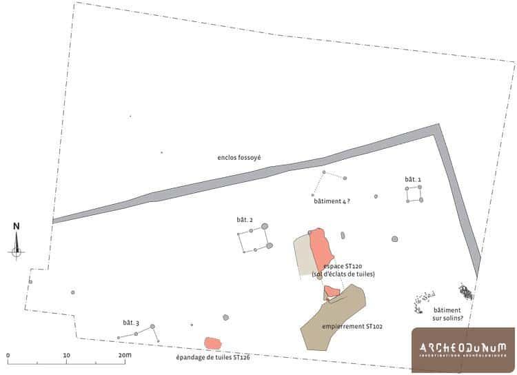 Plan des vestiges d'époque romaine