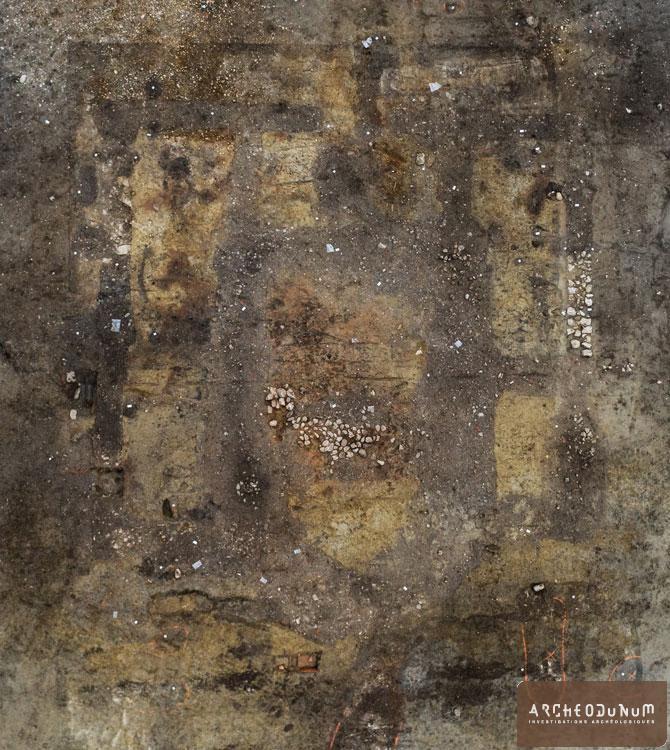 Vue aérienne des vestiges de l'église paléochrétienne (cliché : Flore Giraud).