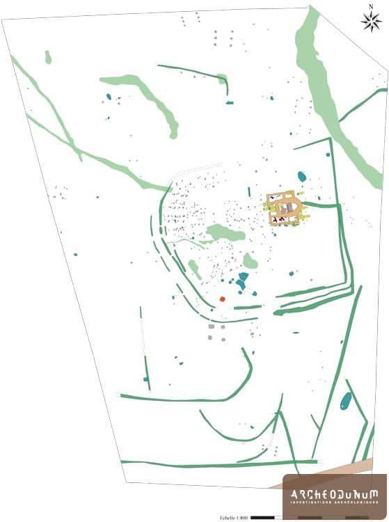 Plan d'ensemble du site.