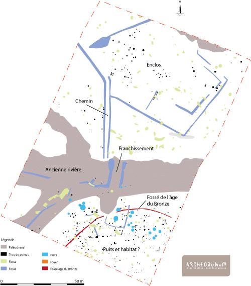 Fig. 6 : Plan général des vestiges.